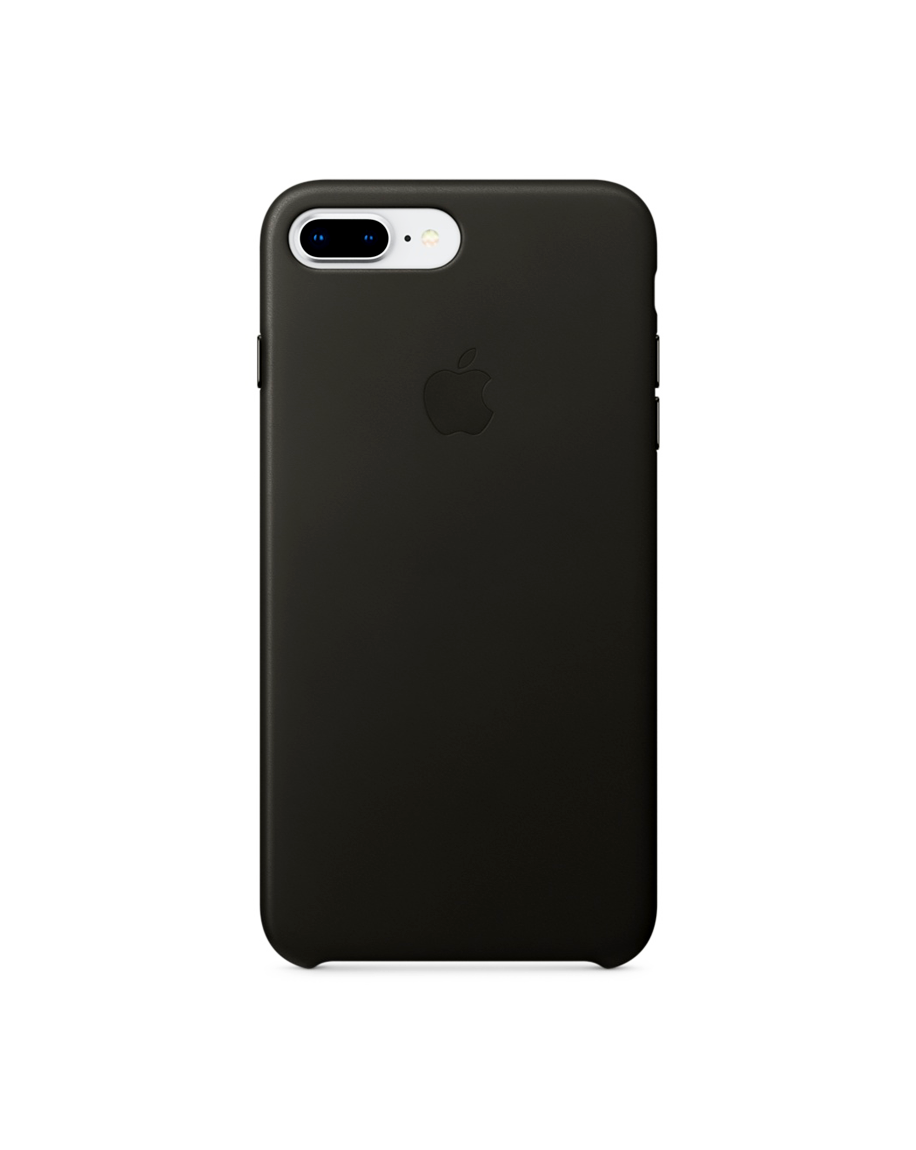 iPhone 8 Plus Leather Case - Charcoal Gray