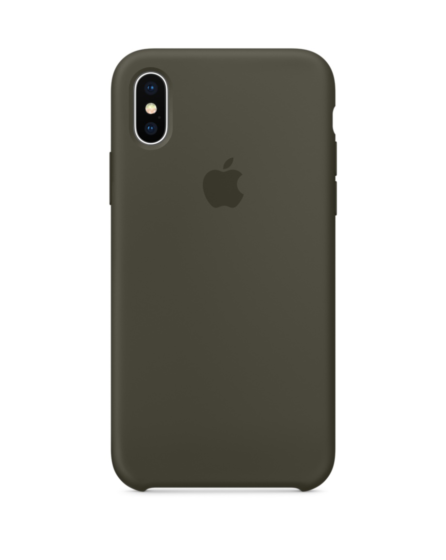free shipping 25719 025ad iPhone X Silicone Case - Dark Olive