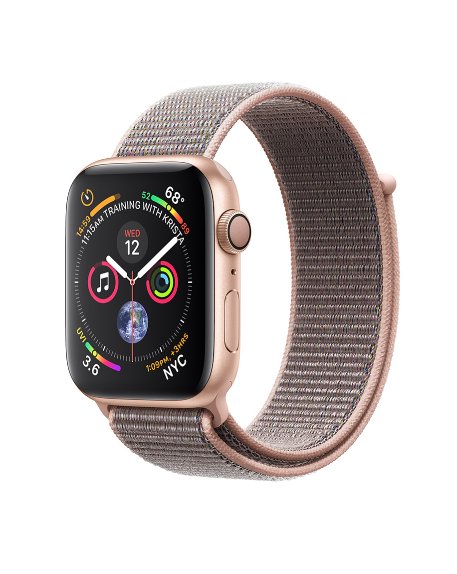 Apple Watch Series 4 44mm GPS Only Gold Aluminum Case Pink Sand Sport Loop