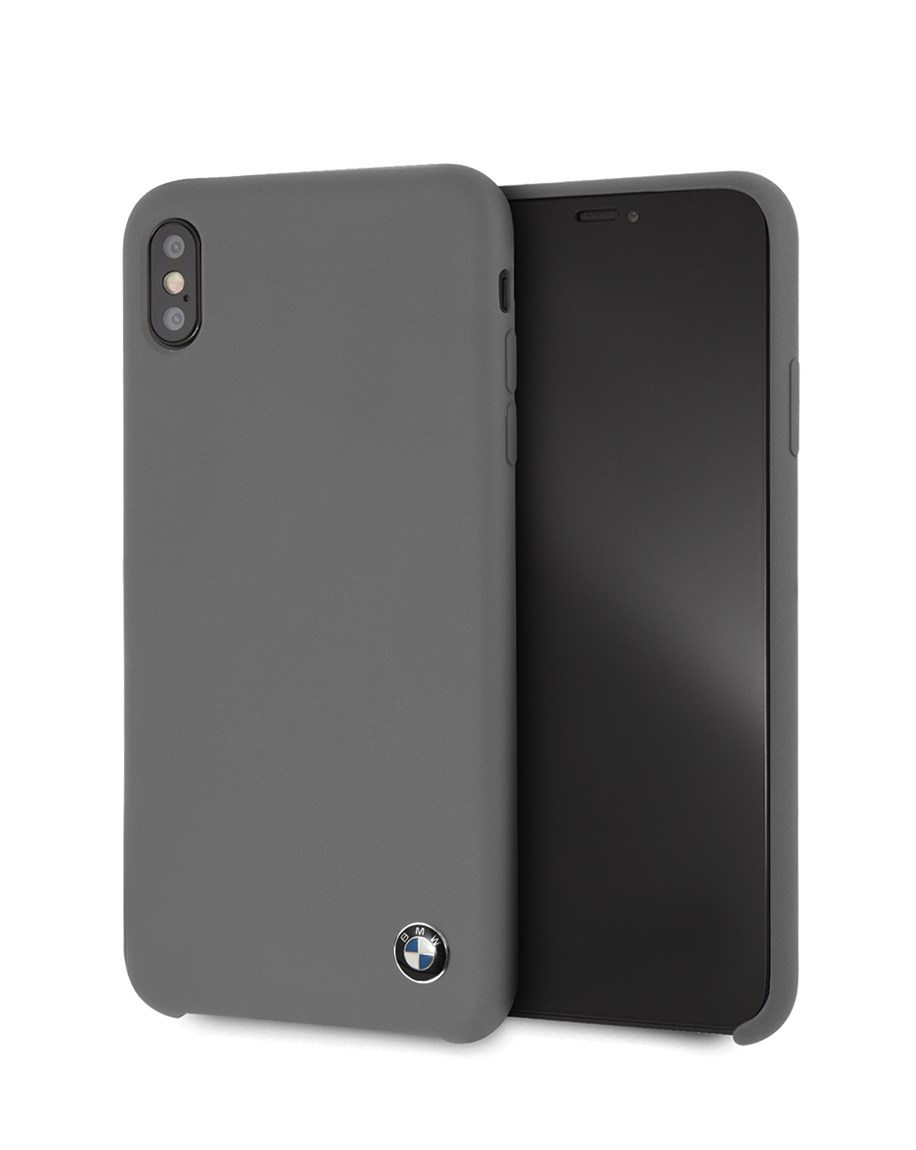 first rate 2e7f0 b1c52 BMW Real Microfiber Silicone Case for iPhone X / Xs - Gray