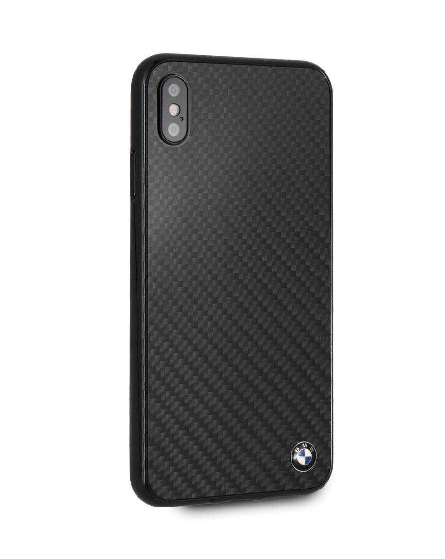 designer fashion 7fe6d 55a51 BMW Real Carbon Fiber TPU Hybrid Case for iPhone Xs Max - Black