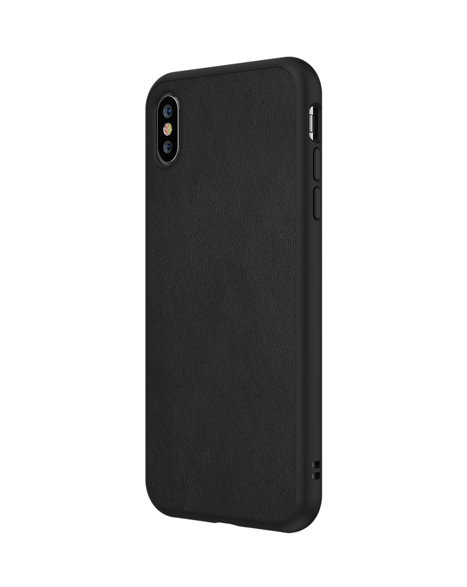 premium selection 70698 e3342 RhinoShield SolidSuit Black Leather iPhone XS Max