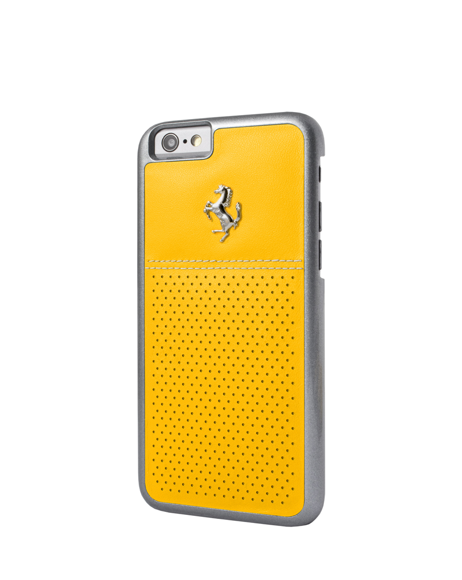 Ferrari Berlinetta iPhone 6/6s Perforated Leather Back Cover - Yellow
